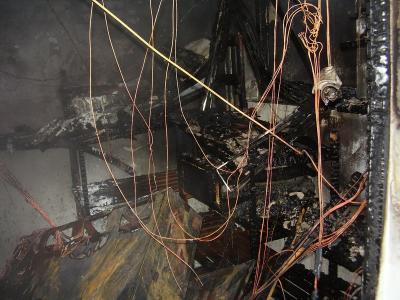 ausgebrannter Keller