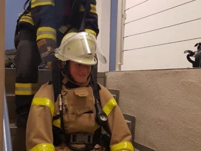 Rettung über Treppen