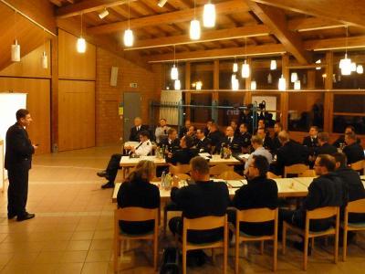 33 Feuerwehrangehörige trafen sich bei der Infoveranstaltung in Erdmannhausen
