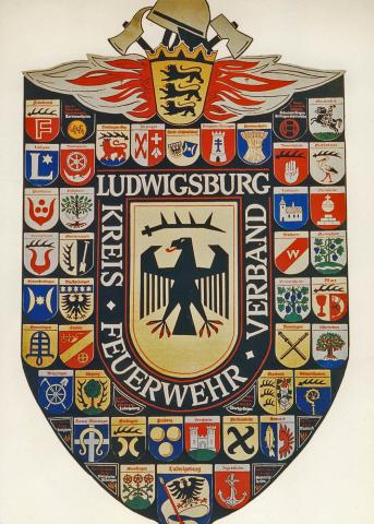 Wappenformation aus Wappen zusammengesetzt